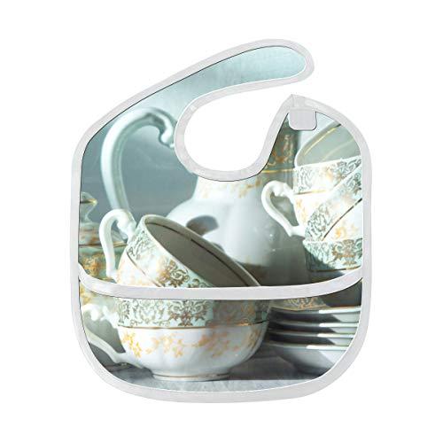itionelle Chinesische Kunst weiche waschbare Flecken geruchsresistente Babyfütterung Dribble Sabberlätzchen Spucktücher für Säuglingsoverall für 6-24 Monate Kindergeschenke ()