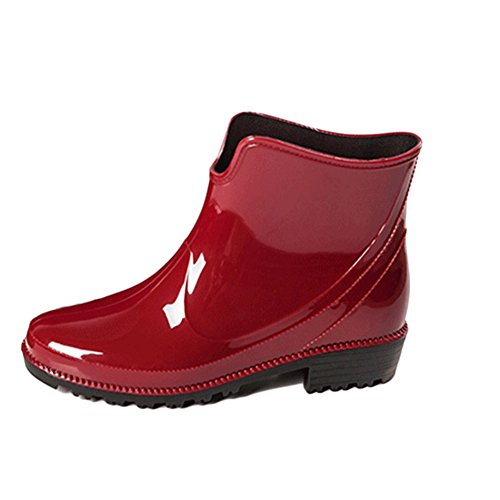 Women Rain Shoes Non-Slip Waterproof Ankle Boots Classic Style