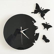 Ufengke® 3D Farfalla Acrilico Orologio Di Parete Adesivi Murali Fashion Design Arte Adesivi Da Parete Decorazione Domestica Creativa Nero
