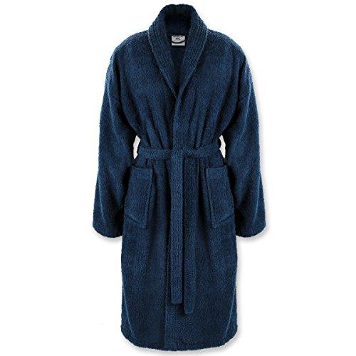 Gräfenstayn Bademantel für Damen & Herren S–XXXL aus 100% Baumwolle in verschiedenen Farben – Öko-Tex Standard 100 (XL, Blau)