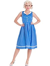 Hell Bunny Kleid KAREN DRESS blue