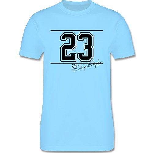 Basketball - College Sports Zahl Oldschool - Herren Premium T-Shirt Hellblau