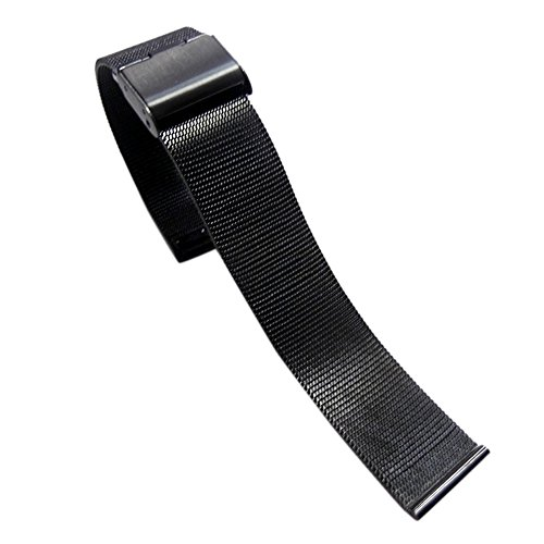 HECAREN Galaxy Watch 46mm / Gear S3 Frontier Classic Band [Small], 22mm Milanese Loop Stainless Steel Replacement Smartwatch Bracelet Wrist Strap with [Unique Magnet Lock] for Women Men (Black) (Tmobile S3 Galaxy Handy)