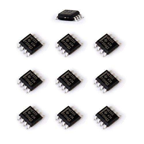 555-timer-schaltungen (H HILABEE 10 Stücke SMD NE555 555 Timer IC Modul SOP8 Integrierte Schaltung Chips Kits 4,5 16 V)