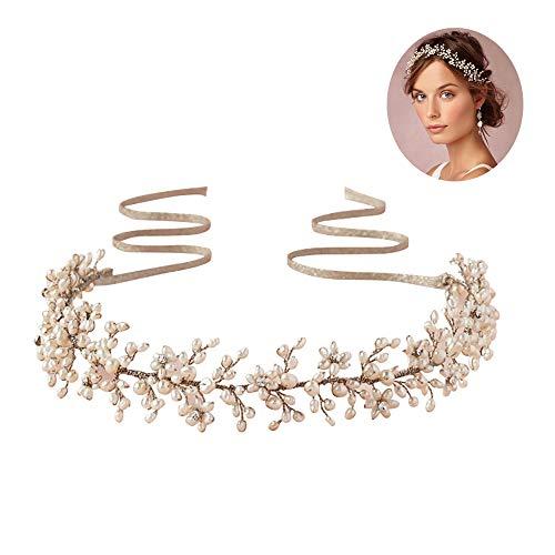 roroz Hochzeit Krone, Brautschmuck, Hochzeit Haarschmuck Star Crown Stirnband, Hochzeitskleid Zubehör Fotografie Make-up Styling Kopfschmuck,White