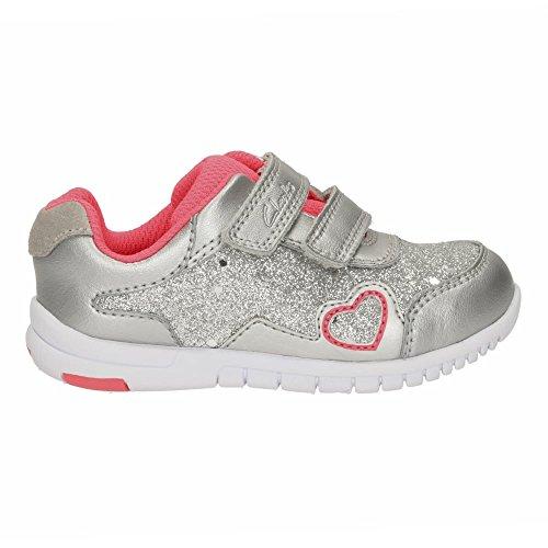 Clarks Chaussures occasionnelles de filles TVF azon labyrinthe en différentes couleurs Silver Metallic
