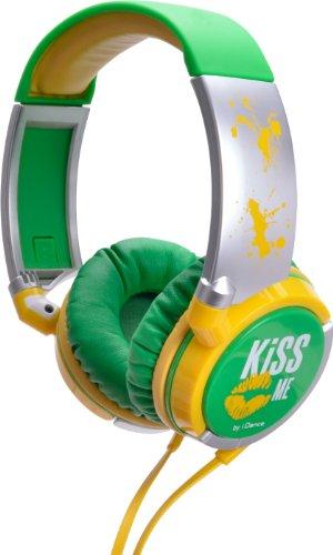 iDance Kiss Me 200 Kopfhrer silber/gelb/grün