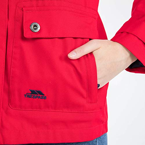 Trespass Seawater, Red, XXS, Wasserdichte Jacke für Damen, XX-Small / 2XS / 2X-Small, Rot - 5