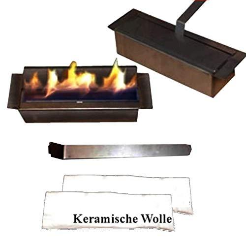 Regulierbarer 1-Liter Edelstahl-Brenner für Gel- und Ethanol-Kamine