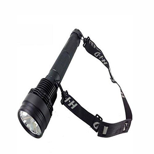Jia & ER Wiederaufladbare HID Xenon Taschenlampe Selbstverteidigung und starkes Licht Legierung Fernbereich Patrol Outdoor Beleuchtung Lichter schwarz