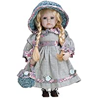 Muñeca de Porcelana de 30 cms con soporte. LEONOR - BAM005