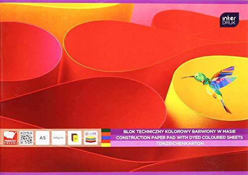 Interdruk BLTKA5LUX - Bloc de Dibujo técnico teñido A5 20