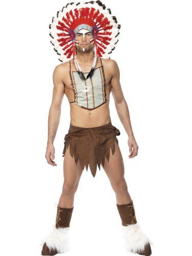Smiffys Karneval Herren Kostüm Village People Indianer sexy -