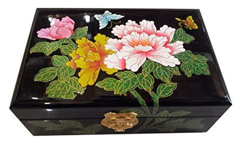 Laogg Chinesische Schmuckschatulle,Hölzerne Schmuck Box Lack Handwerk Box Box Armband Feld chinesischen Lagerung Uhrenbox,Chinesische Hochzeit Aufbewahrungsbox -