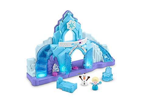Fisher-price- frozen palazzo di elsa, little people, playset con personaggi, giocattolo 1,5+ anni, gkv24