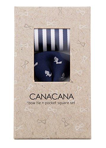 Canacana - Nœud papillon - Motifs - Garçon Navy Blue with White