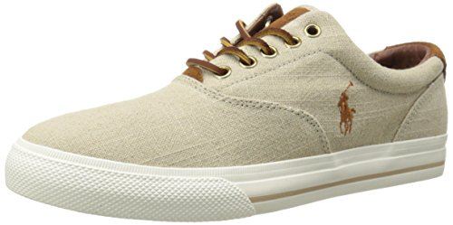Ralph Lauren Vaughn SK VLC Natural Mens Trainers Natural