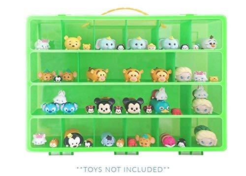 My Mini Bin Toy Organizer -My Mini Bin Is The Perfect Tiny Toy Storage Box- Fits Up to 50 Mini Figures In All Styles - Large Sturdy Case And Carrying Handle (Toy Storage Bin)