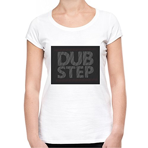 dub-step-logo-t-shirt-donna-bianco-s