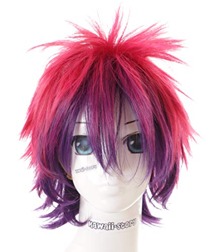 Kawaii-Story CS-185A Sora No Game No Life Pink Lila 32cm kurz Haar Cosplay Perücke Wig Anime Manga