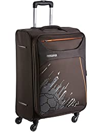 American Tourister Z-Strike Polyester 56 cms Chocolate Brown Softsided Cabin Luggage (AMT Z-Strike SP56CM FTBL C.BRW)