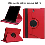 Aavjo, 360° Rotating PU Leather Book Folio Flip Case Cover For Samsung Galaxy Tab S3 9.7-inch SM-T820 SM-T825 SM-T827 (Red)
