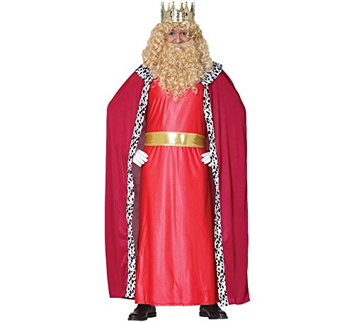 Guirma Costume Re Magio Gaspare, Colore Rosso, L (L (52-54) 41686