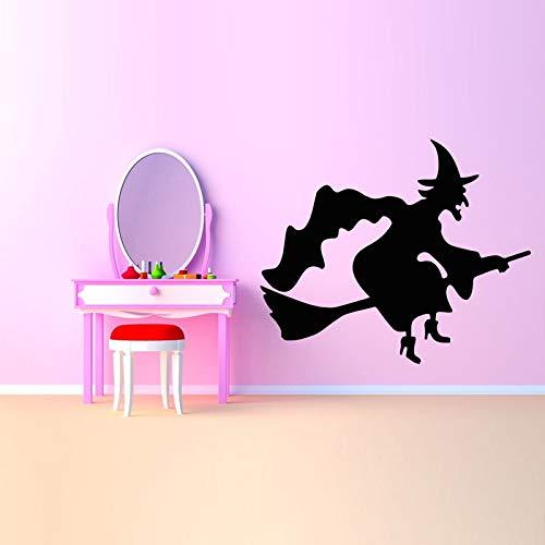 ONETOTOP Hexe Cartoon Poster Wandaufkleber für Kinderzimmer Abnehmbare Wandtattoos Halloween Wallpaper Home Aufkleber Kunst Decor 51 * 42 cm