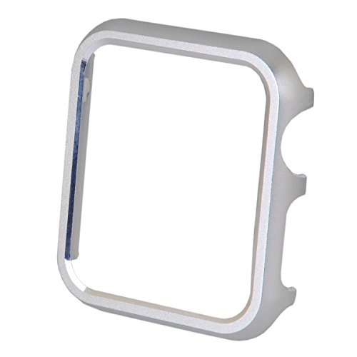 Apple Watch Custodia Serise 1/Serise 2, PUGO Apple Watch Protettivo Case Cover Custodia Tough Armor per Apple Watch / Watch Sport/Watch Accessories(Argento,42mm)