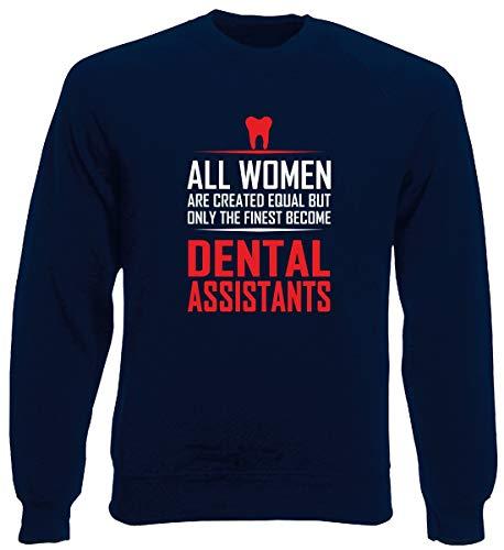 T-Shirtshock Rundhals-Sweatshirt fur Mann Blau Navy GEN0574 DENTAL Assistants Assistant Sweatshirt