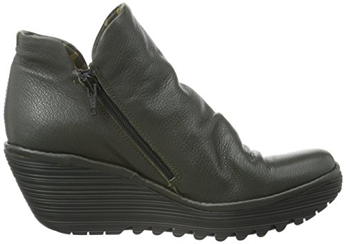 FLY London  Yip, Bottes Classics courtes, doublure froide femme Gris (Nicotine 041)