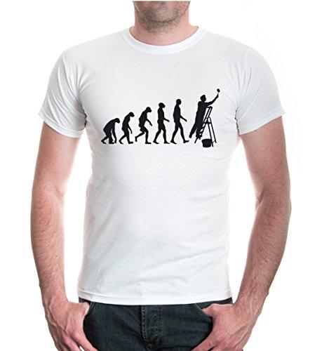 buXsbaum® T-Shirt The Evolution of Painter White-Black