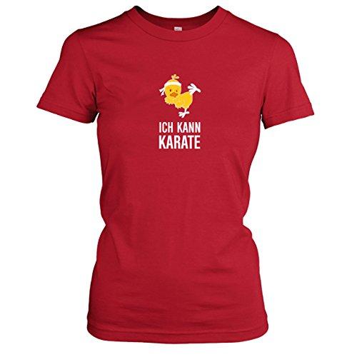 TEXLAB - Ich kann Karate - Damen T-Shirt, Größe S, rot