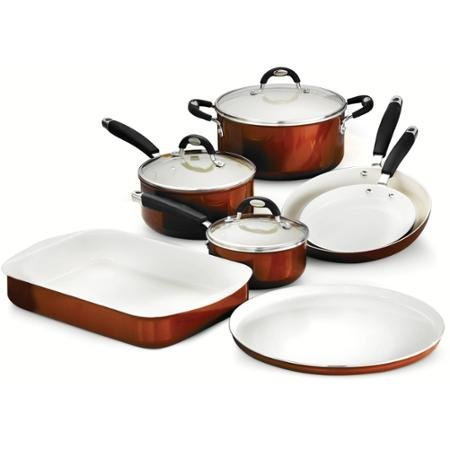 Tramontina Style 10-Piece Cookware/Bakeware Set, Metallic Copper by Tramontina