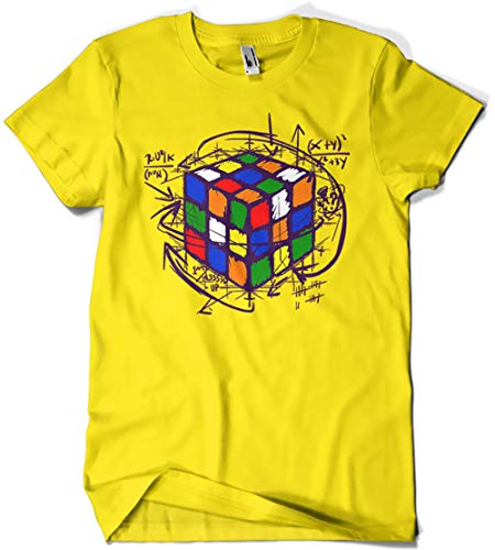 Camisetas La Colmena 4189-Rubikcube (L, Amarillo)