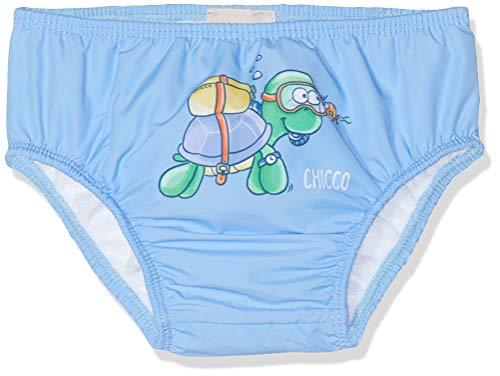 Chicco Baby-Jungen Costume Da Bagno Slip Pannolino Contenitivo Schwimmwindel, Türkis (Azzurro Chiaro 021), 56 (Herstellergröße: (Jungen Slips Kostüm)