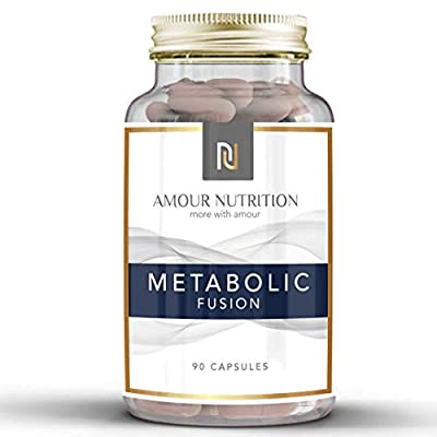 Metabolic Fusion Fat Burner Diet Pills, Low Stimulant Weight Loss Supplement Suitable for Men and Women, UK Made Quality Assured by Amour Nutrition