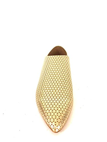 Mocassini sabot vr 782 in pelle punta eleganti nero oro MainApps Oro