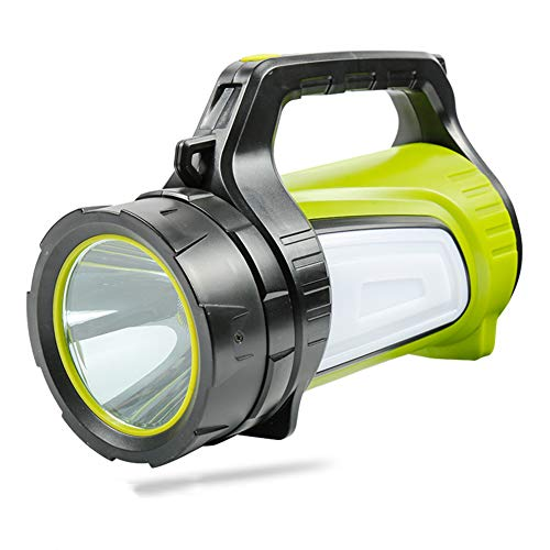 HUANGLP Blendung Lange geschossene Laternen Campinglichter, LED-Bandseitenlampe 1200 Lumen 1000 Meter lang Endurance-Anzeige Strom USB-Aufladung tragbar Suchlicht-Taschenlampe,7028S