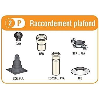 Solution rénovation DUALIS FLEXCONDENS pour chaudières gaz ou fioul B23P raccordement plafond diamètre _80 27080613