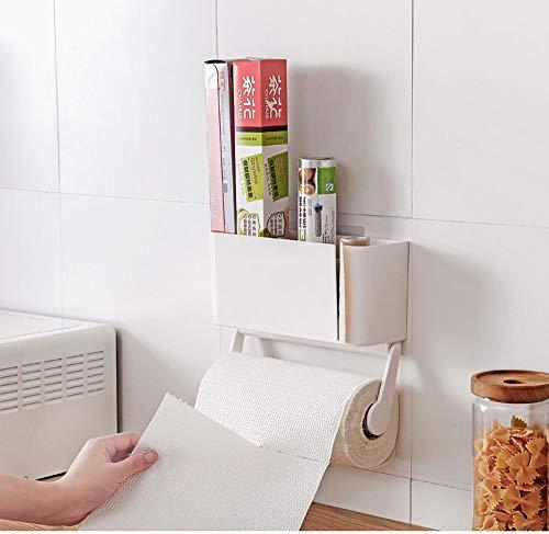 WuZhong W Toilettenpapierhalter, Badezimmer hängen Papierhalter Kühlschrank Seite Rack Roll Tray Plastikfolie Lagerregal Wohnzimmer Papier Handtuchhalter Rack