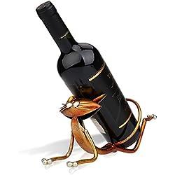 Tooarts Botelleros de Vino de Metal Gatos Regalos Originales Soporte de Vino Metal