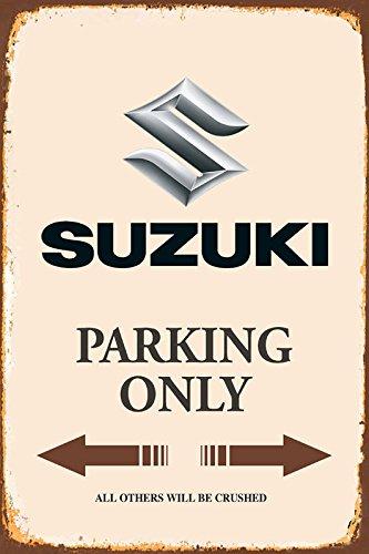 Suzuki Parking only park schild tin sign schild aus blech garage