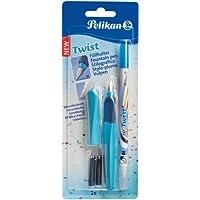 Pelikan - Pluma estilográfica y borrador, color azul