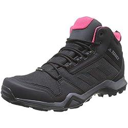 Adidas Terrex AX3 Mid GTX W, Zapatillas de Deporte para Mujer, Gris (Carbon/Core Black/Active Pink 0), 38 EU