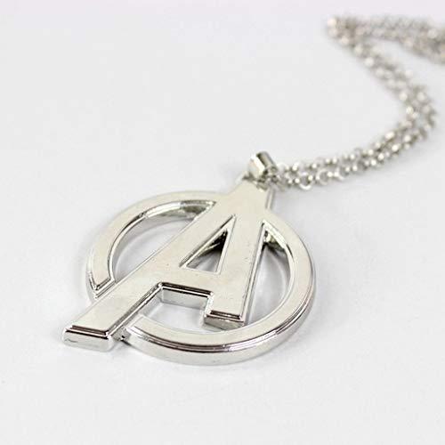 QWEASZER Wunder Anhänger Avengers Halskette - The Avengers Logo - Super Hero Cosplay Halskette - Mark A - Avengers End Game Halskette Silber,A-OneSize (Man Iron 2 Mark Kostüm)