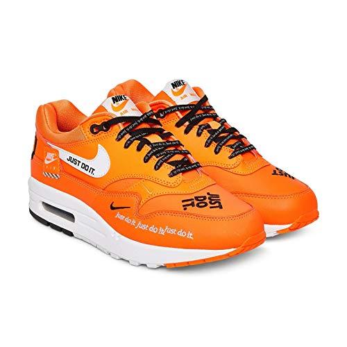 Nike Damen WMNS Air Max 1 Lx Laufschuhe, Mehrfarbig (Total Orange/White/Black 800), 37.5 EU -