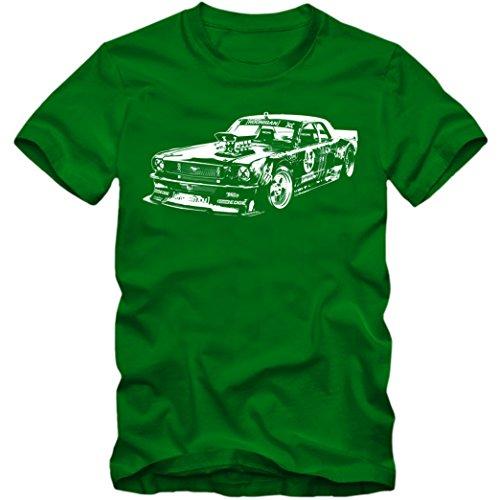 Hoonicorn Mustang Vintage Premium-Herrenshirt |Herren | Motorsport | Rallye | Gymkhana |Hoonigan | Ken Block © Shirt Happenz Hellgrün (Kelly Green L190)