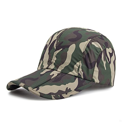 63eac185e Camo Army Camo Hats,Camouflage Caps for Men,Breathable Running Quick Dry  Folding Brim Hat Under 10 UV Sun Protection Visor Baseball Hats Adult  Outdoor ...