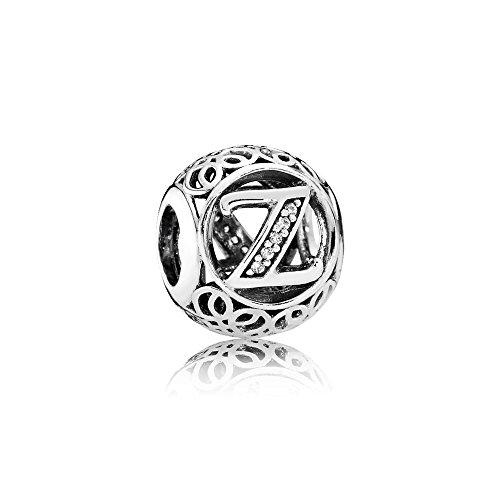 05af887ba6a157 Letter Alphabet Charm 925 Sterling Silver Charms Fits Pandora, European  Bracelets Compatible